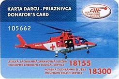 Karta darcu-priaznivca leteckej a horskej záchrany